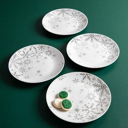 99764_KSP_Christmas_Decal_'Snowfall'_Porcelain_Side_Plate___Set_of_4