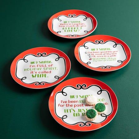 99770_KSP_Christmas_Decal_'Hey_Santa'_Porcelain_Side_Plate___Set_of_4