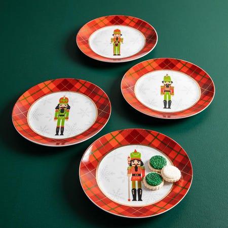 99772_KSP_Christmas_Decal_'Nutcracker'_Porcelain_Side_Plate___Set_of_4
