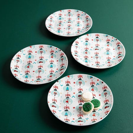99774_KSP_Christmas_Decal_'Oh_What_Fun'_Porcelain_Side_Plate___Set_of_4