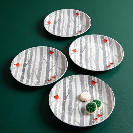 99776_KSP_Christmas_Decal_'Winter_Cardinal'_Porcelain_Side_Plate___Set_of_4