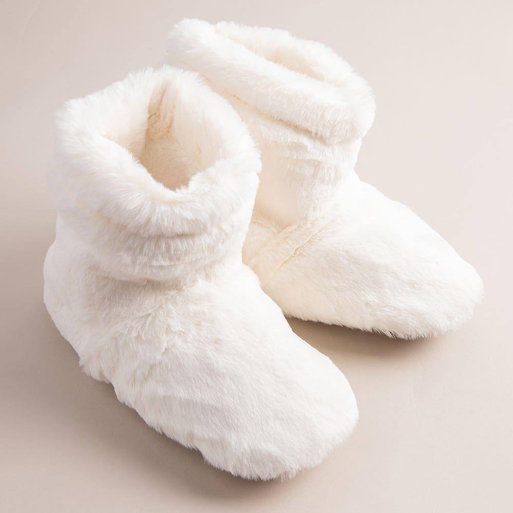Aroma Home Luxury Warming Booties - Set of 2 (Cream)