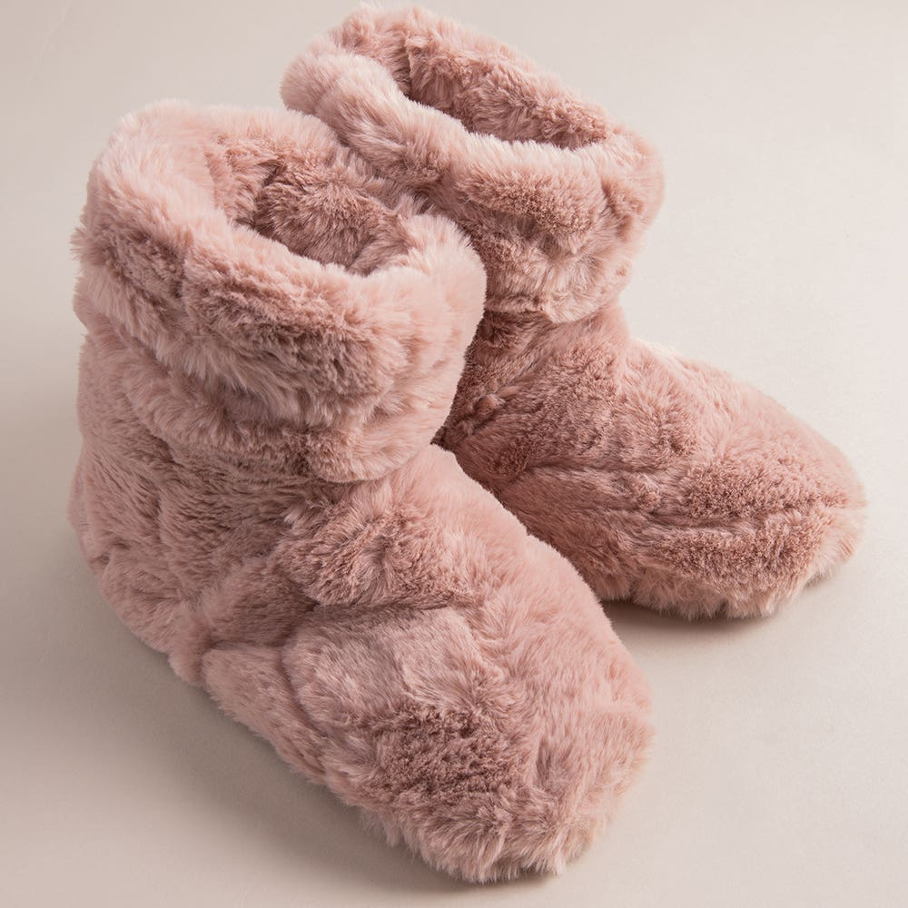 Aroma Home Luxury Warming Booties - Set of 2 (Pink)