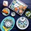 KSP Madrid Melamine Tidbit Plate - Set of 4 (Blue/Green)