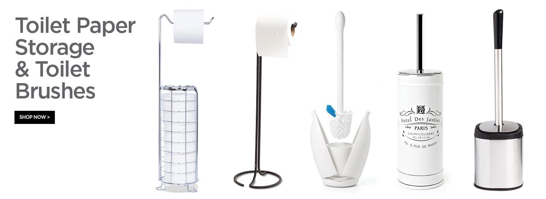 Shop Toilet Paper Storage & Toilet Brushes