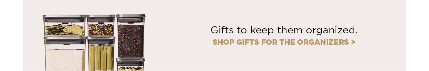 Gifts to keep them organized - shop gifts for the organizers.