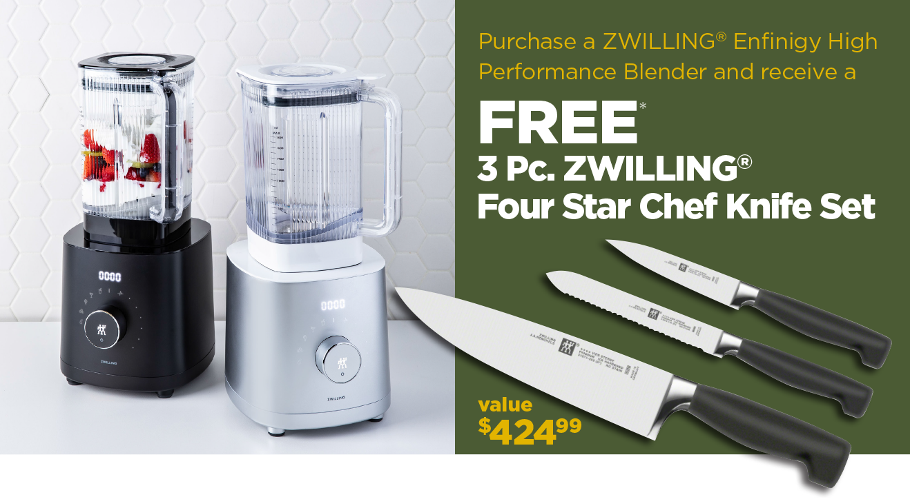 Purchase a High Performance Blender get a free 3 Pc. Knife Set