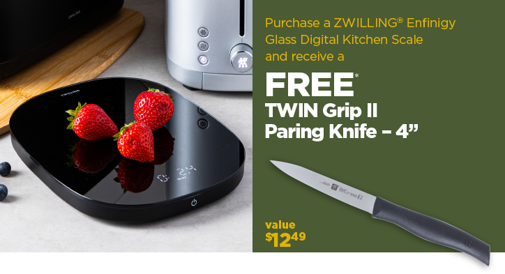 Purchase a Digital Scale get a free TWIN Grip II Paring Knife