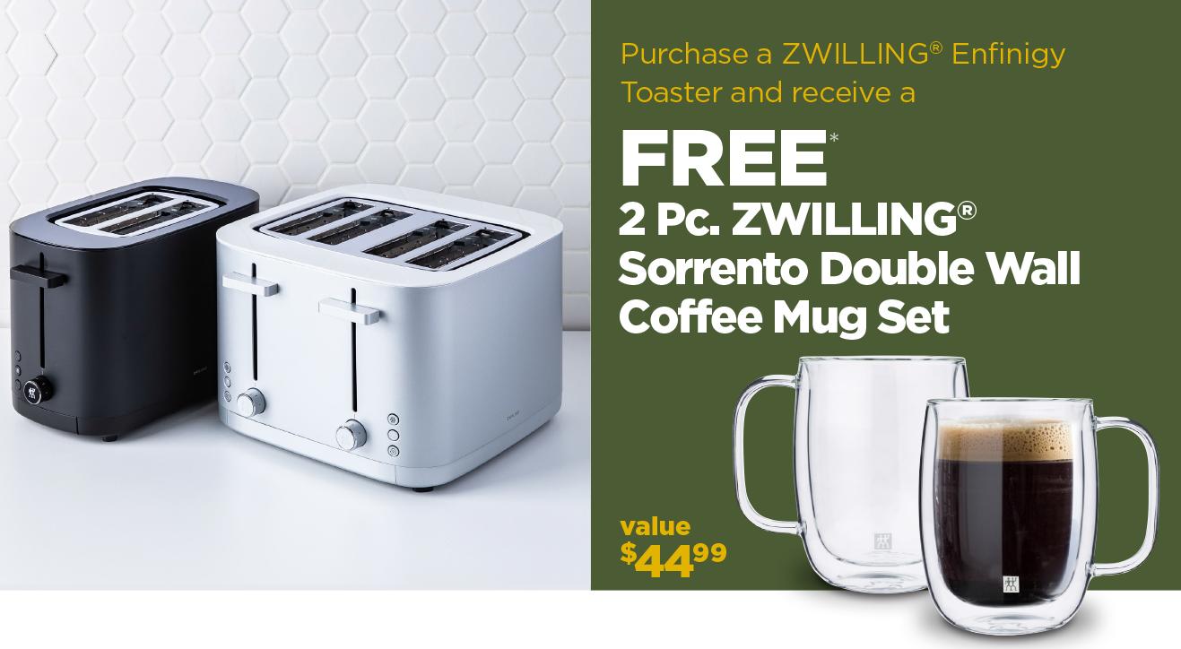 Purchase a Toaster get a free 2 Pc. Sorrento Mug Set