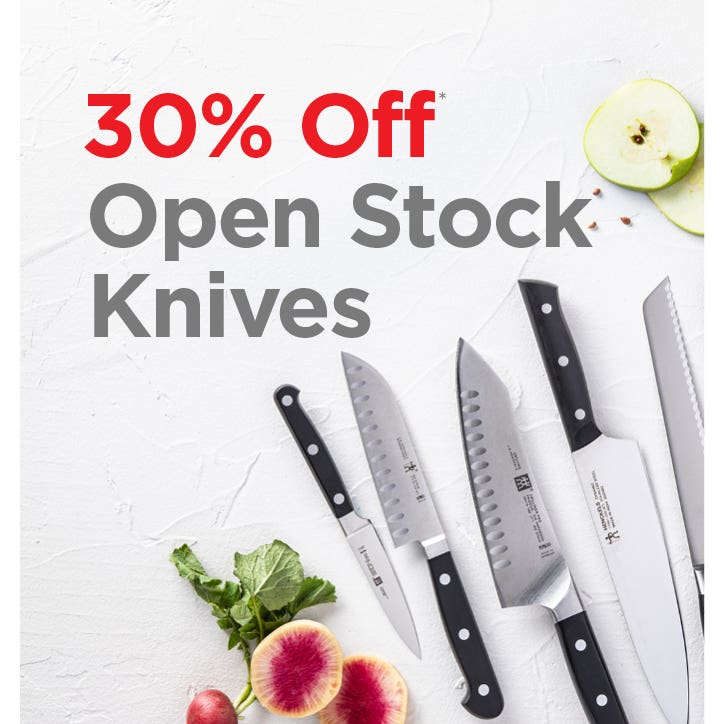 30% Off Open Stock Knives during the ZWILLING & Henckels Event