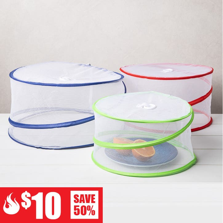 $10 Red Hot Deals - 3 Pc. Luciano Pop-Up Collapsible Mesh Food Tent Set