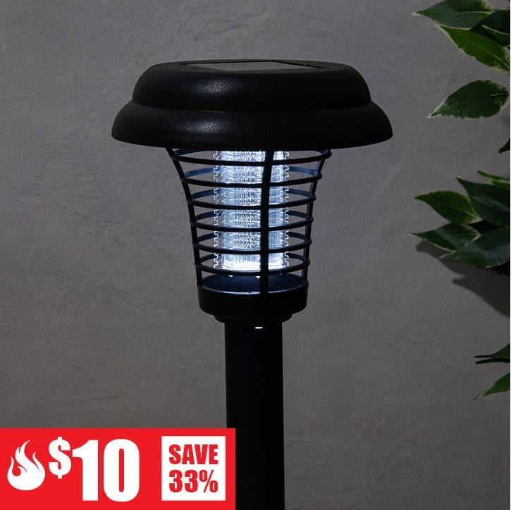 $10 Red Hot Deals - Deco Lite Solar Bug Zapper Garden Stake