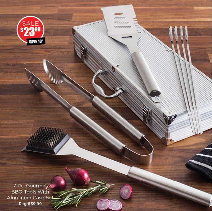 Shop 7 Pc. Gourmet BBQ Tools Set