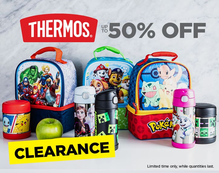Up to 50% Off Thermos - CLEARANCE