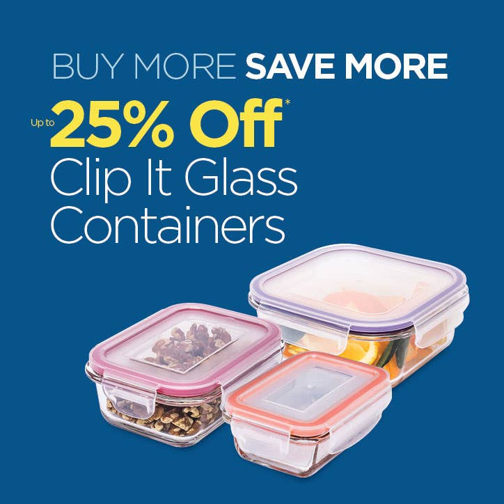 Save up to 25% Off Easy Lock Canisters