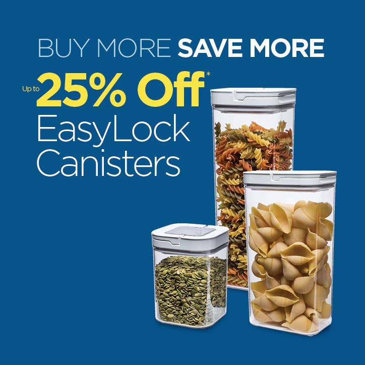 Shop Easy Lock Canisters - up to 25% Off