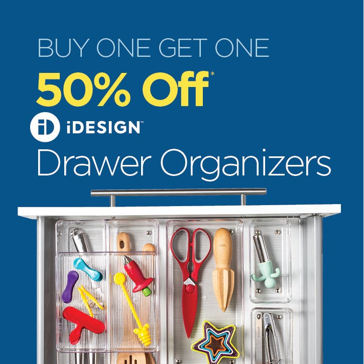 BUY ONE GET ONE 50% Off iDesign Linus Drawer Organizers