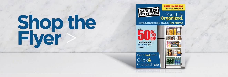 Shop the Organization Sale Flyer
