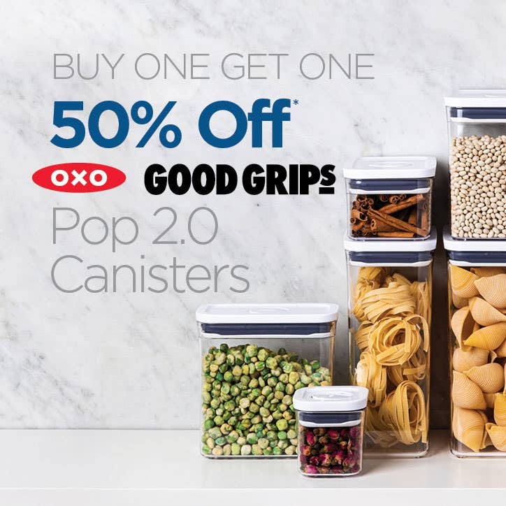 BUY ONE GET ONE 50% Off OXO Good Grips Pop 2.0 Canisters