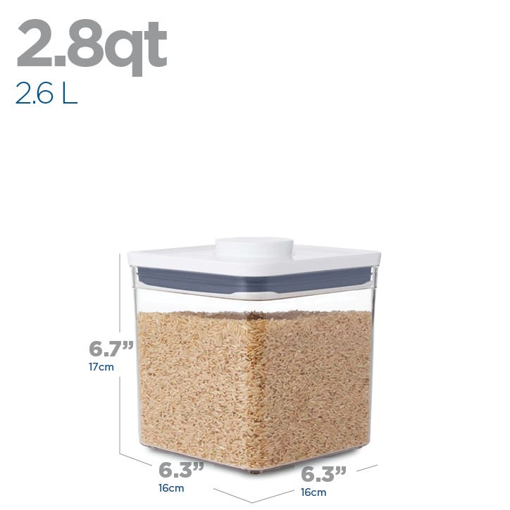 OXO Good Grips Pop 2.6L 'Short' Square Storage Canister