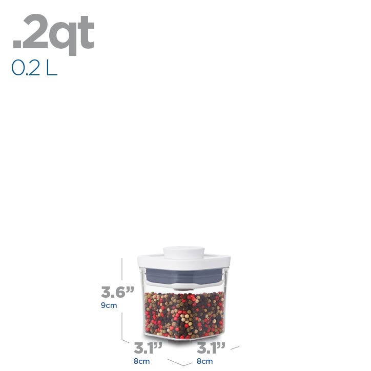 OXO Good Grips Pop 2.0 'Mini' Storage Canister Square (Clear)