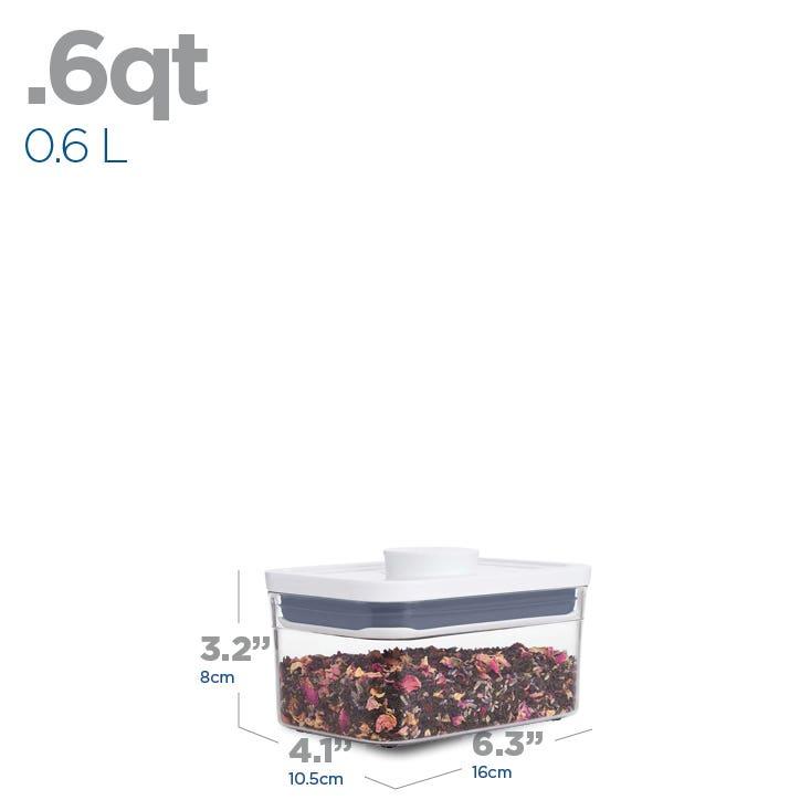 OXO Good Grips Pop .6L Mini Rectangular Storage Canister