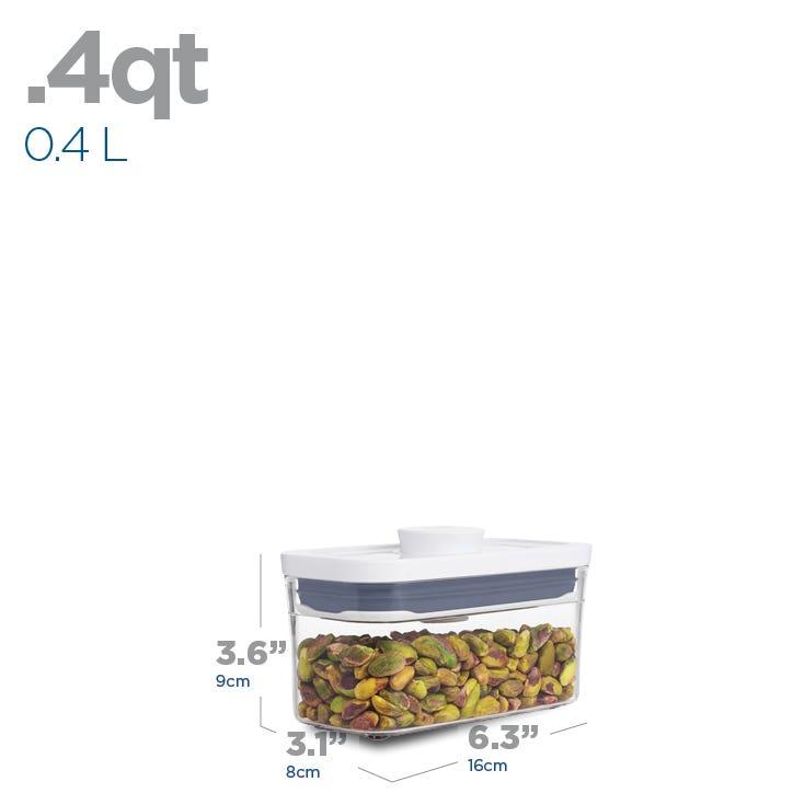 OXO Good Grips Pop .4L Slim Rectangular Storage Canister