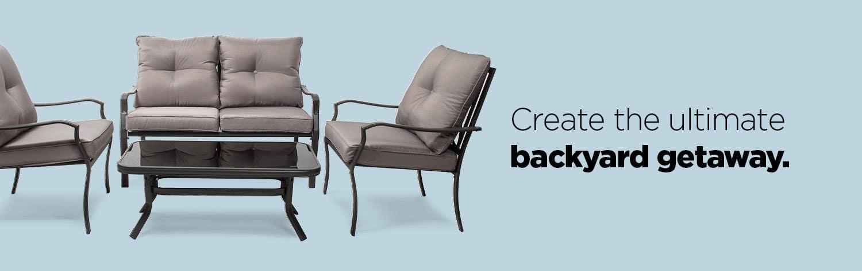Create the ultimate backyard getaway – shop outdoor furniture