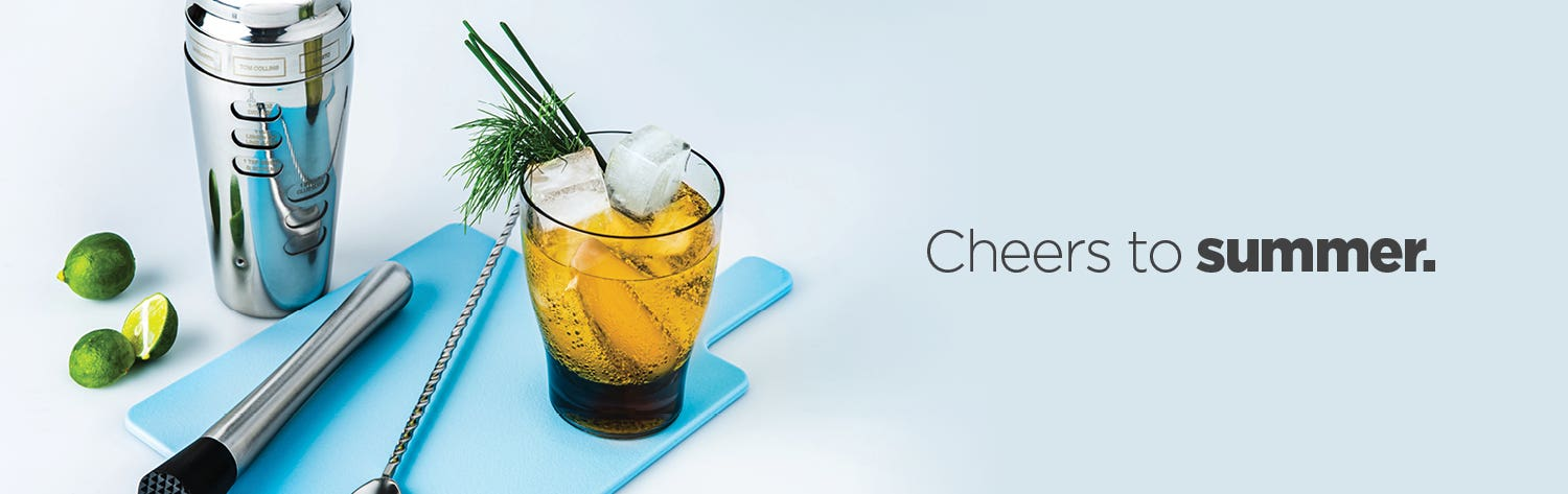 Cheers to summer – shop cocktails and barware.