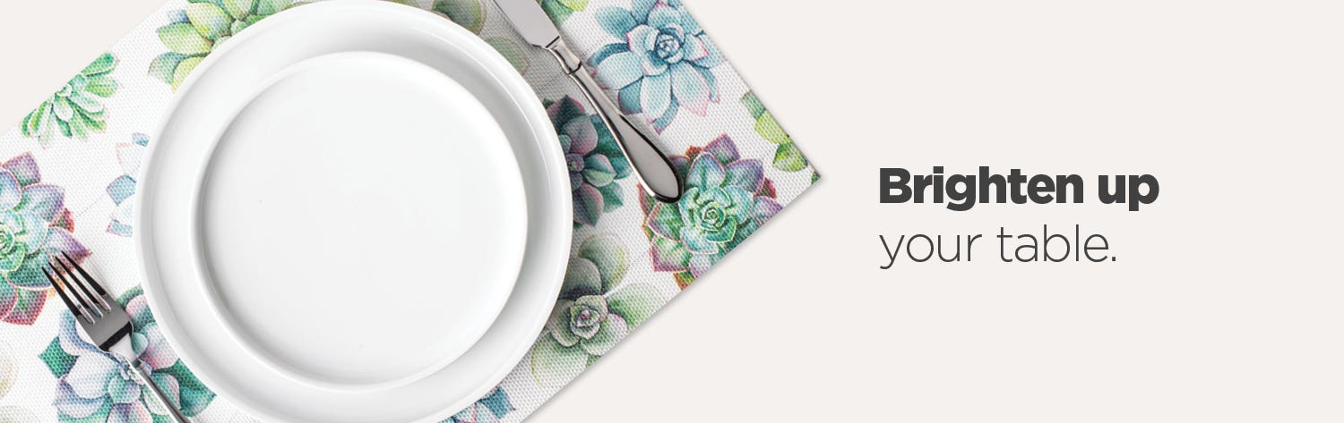 Brighten up your table - shop tabletop decor.