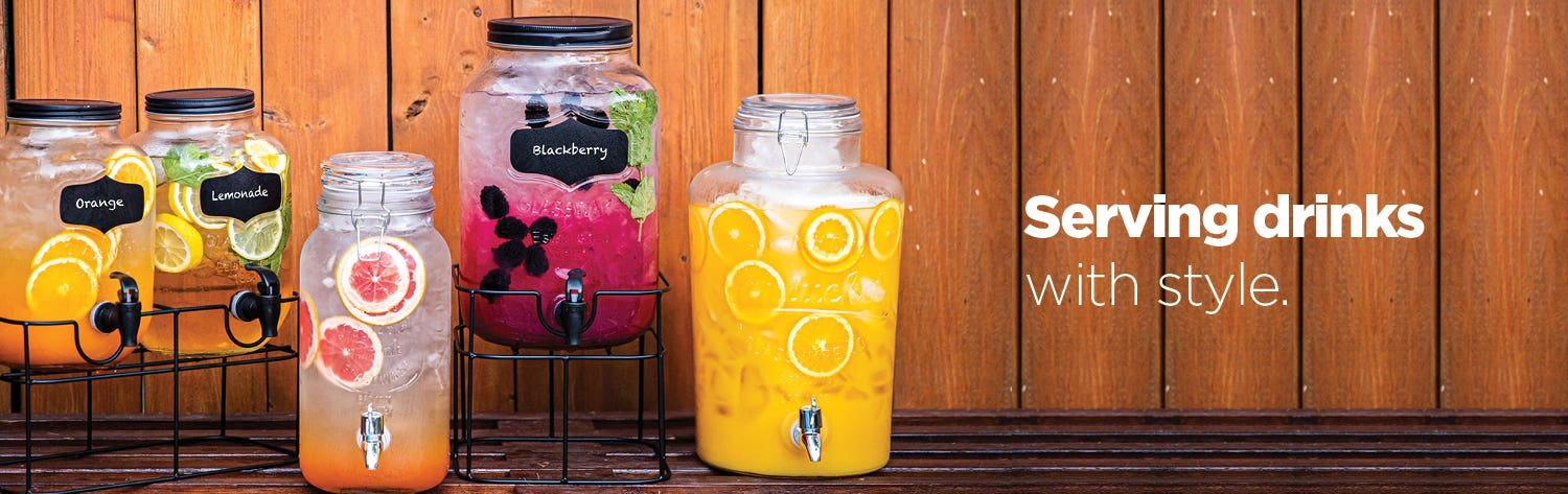 Serving drinks with style - shop pitchers & dispensers