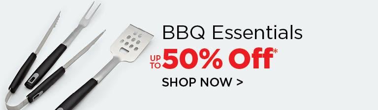 Shop BBQ Essentials - up to 50% Off
